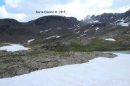 la nostra meta vista dal Lago superiore di San Martino (8-7-2012)