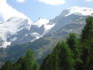 Bernina e Morteratsch dal sentiero verso la Boval