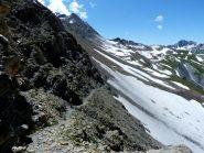 sentiero che dal col Chavanne va al Col de la Seigne