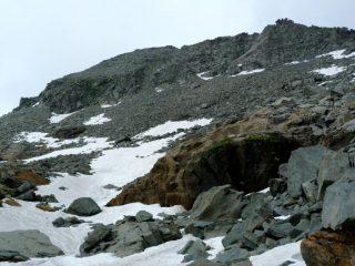 pietraia da cui siamo scesi direttamente dalla punta