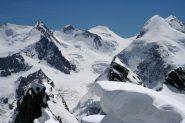 Dalla vetta verso il Monte Rosa...poco prima di iniziare la discesa