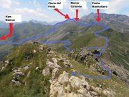 01 - le cime toccate nel giro ad anello viste dalla Rocca Moross