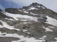 la cresta di salita dalla depressione  alla cima