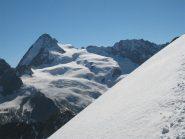 La Dent d'Herens vista dalla cresta della Kurtz