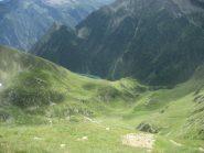 vista sui sottostanti alpi Preja e Testa