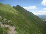 traverso -sul versante antronesco- per raggiungere il passo della Preja