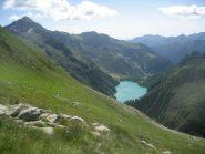 il bacino/lago dei Cavalli ripreso in prossimità del passo Andolla