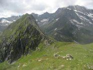 il passo del Busin e nel punto più basso della cresta, il passo Andolla