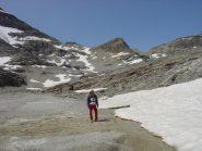 resti del ghiacciaio dell'agnello