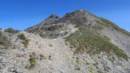 salendo la prima parte della cresta SE verso la cima (15-7-2012)