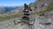 un grande ometto lungo la parte alta della cresta SE del Foreant (15-7-2012)