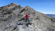 salendo nella parte alta della cresta SE del Foreant (15-7-2012)