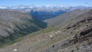 una bella visuale sulla conca di Saint Veran dalla cresta SE del Foreant (15-7-2012)