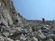 la pietraia sotto la cima