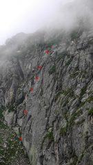parete Piacenza e schizzo itinerario