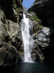 la bella cascata della parte alta