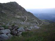 La strada che porta alle vecchie miniere di quarzo