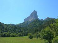 Il Mont Aiguille scendendo a Trésanne