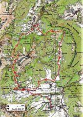 Il percorso dell'anello con la variante da Chichilianne (tratteggio)