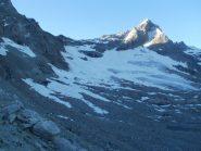 Come si presentano oggi il ghiacciaio e la Becca