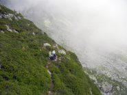 Loris in prossimità della morena che conduce all'alpe Lavazei