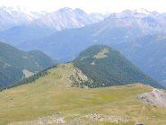la cresta dal colle di Bard alla cima