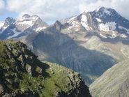 Vista sulla Weissmies dal sentiero che riporta a Plattjen