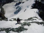 Simona alla fine del tratto roccioso