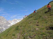 Appena lasciato il sentiero per il Col du Grand Ferret