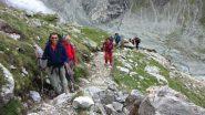 salendo verso la Turtmann Hutte, nella parte alta del sentiero (21-7-2012)