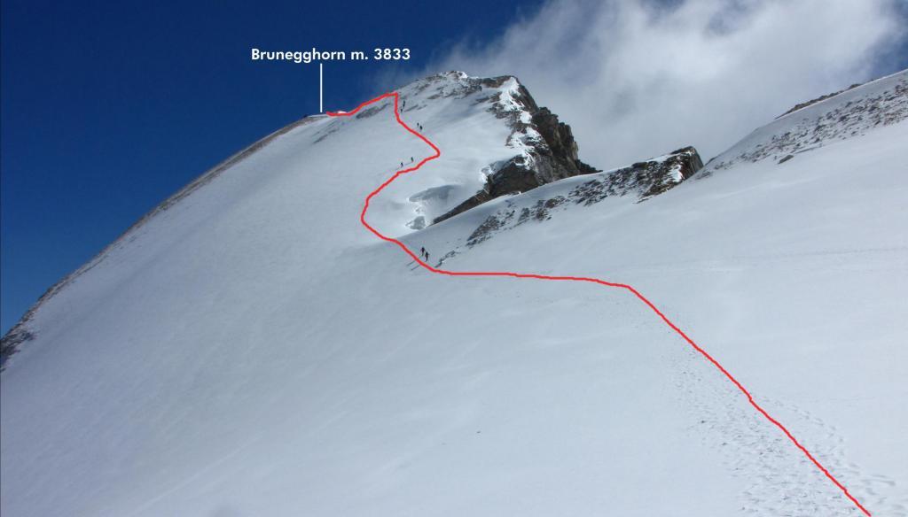 la parte finale della via di salita per la cima (22-7-2012)