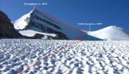 la parte alta della via normale al Brunegghorn (22-7-2012)