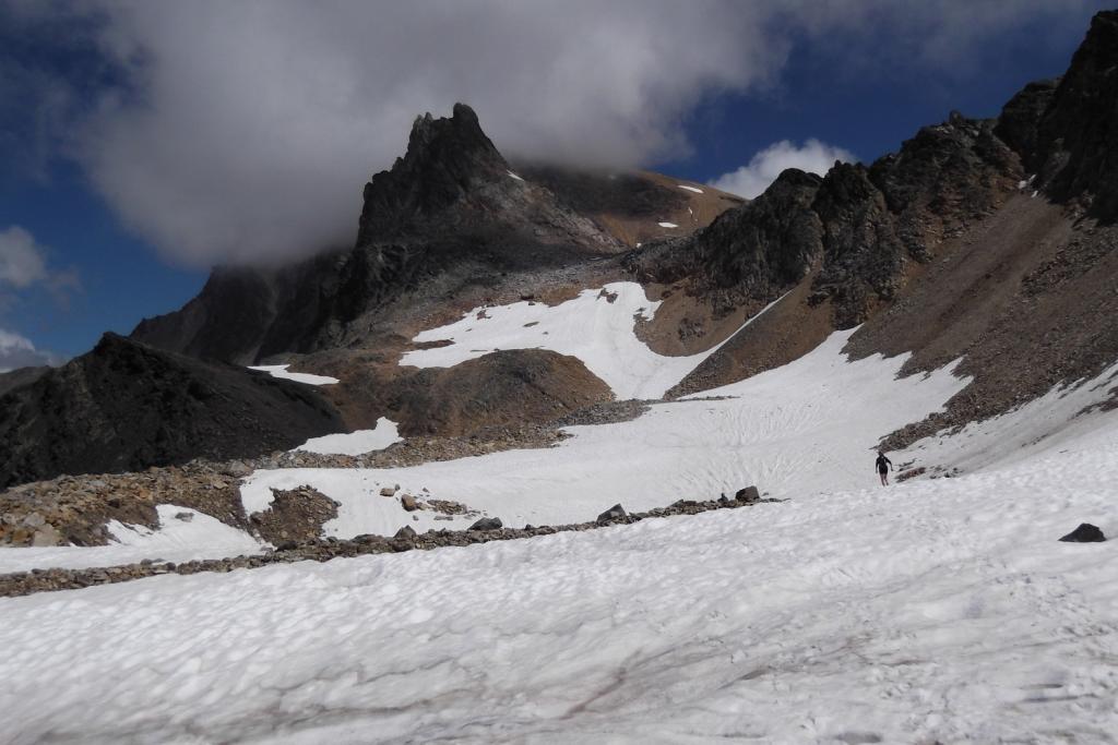 la bella conca glaciale sotto il Thabor