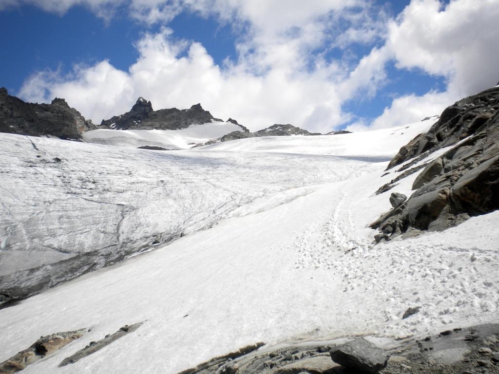 Gura (Ouille de la - Uja della) da l'Ecot per il Glacier du Grand Mean 2012-07-22