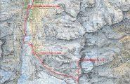 carta CNS con tracciato della via normale al Barrhorn