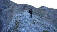 salendo sopra il promontorio roccioso di Gassi (23-7-20129