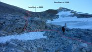 il percorso seguito verso lo Schollijoch (23-7-2012)