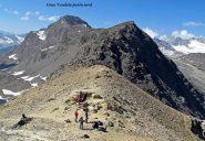 Escursionisti al colle Rosset