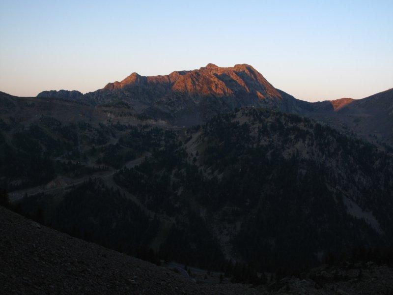 Il primo sole su Mt. St. Sauveur