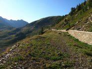 Uno sguardo verso il Colle della Lombarda