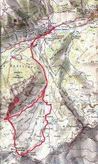 mappa col percorso