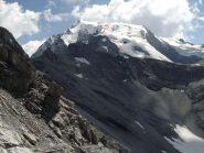 Via di salita ghiacciaio
