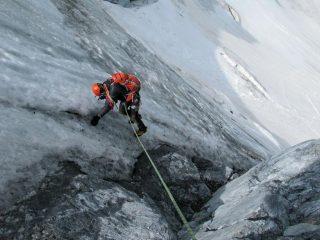 discesa su ghiaccio vivo