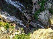 La cascata da attraversare