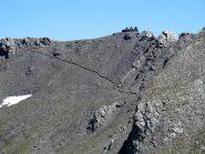 La strada militare che porta alla Punta Cerisira ('i 3 camini')