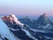 Primo sole sul Breithorn e Cervino