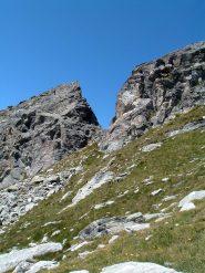 Intaglio sulla cresta Sud della Becca Torché