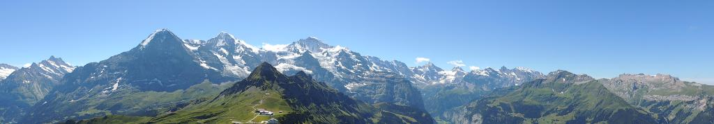 panorama dal Mannlichen Gipfel verso Eiger, Monch, Jungfrau