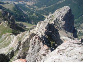 L'Aiguillette de Lauzet dal punto culminante del massiccio q.2717.