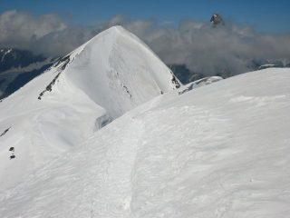 la cresta che porta al Breithorn Occidentale